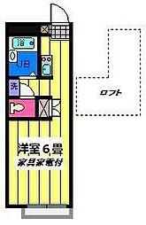 埼玉県さいたま市岩槻区平林寺の賃貸アパートの間取り