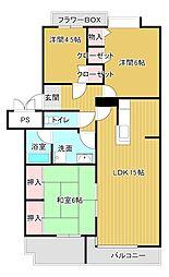 静岡県浜松市中区葵東2丁目の賃貸マンションの間取り