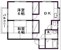 メゾンカトレア[2階]の間取り