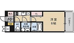 大阪府大阪市福島区海老江4丁目の賃貸マンションの間取り