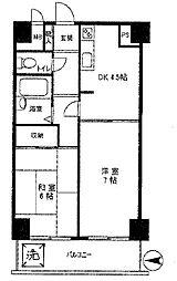 東京都千代田区外神田3丁目の賃貸マンションの間取り