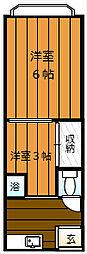 浜寺石津東コーポ[2階]の間取り