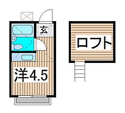 コスモコーポ[1階]の間取り