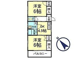 田嶋マンション[201号室]の間取り