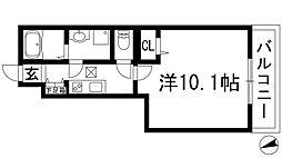兵庫県宝塚市光明町の賃貸アパートの間取り