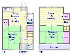 [一戸建] 兵庫県神戸市垂水区西舞子3丁目 の賃貸【兵庫県 / 神戸市垂水区】の間取り