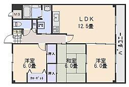 リザイヤビル[4階]の間取り