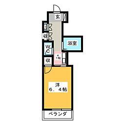 エトワール宇都宮第1[3階]の間取り