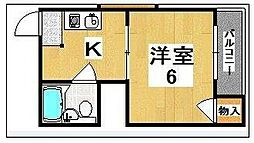 谷垣マンション[2階]の間取り