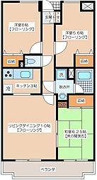 東京都調布市若葉町3丁目の賃貸マンションの間取り