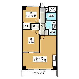 あさひレジデンス三番館[2階]の間取り