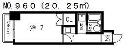 シティーハイツ鳴門[3階]の間取り