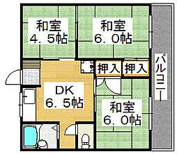 エステート大豆塚I[1階]の間取り