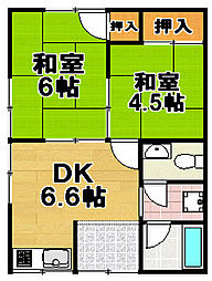桐野江文化住宅[2階]の間取り