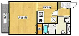 リノ・パラッツォ 3階1DKの間取り
