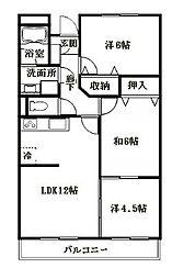 シーサイドビュー[4階]の間取り