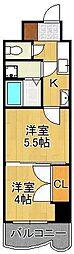 ロイヤルマジェスティ 7階2Kの間取り