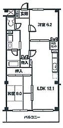 ルースコート戸田[1階]の間取り
