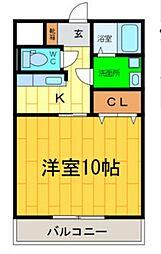 ブライト古川[1階]の間取り