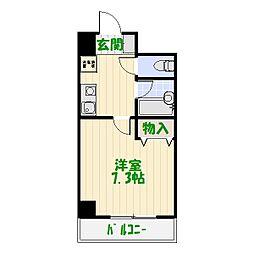 東京都葛飾区青戸4丁目の賃貸マンションの間取り