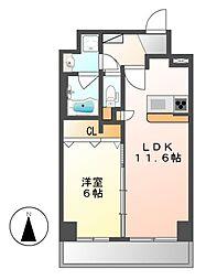 トンシェトア[5階]の間取り