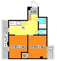 西武ルミエールひばり台[2階]の間取り