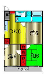 第6池田マンション[1階]の間取り