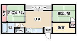 Osaka Metro谷町線 天神橋筋六丁目駅 徒歩8分の賃貸マンション 2階3DKの間取り