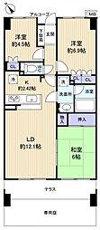 サーパス津田沼[1階]の間取り