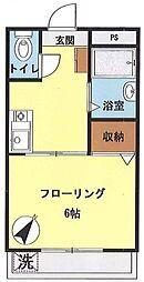 レオ中野ビル[205号室号室]の間取り
