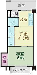 戸山センチュリー(フルリノベーション済)[205号室号室]の間取り