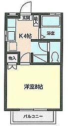 宮城県仙台市太白区鈎取1丁目の賃貸アパートの間取り