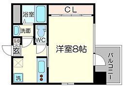 フラット34新大阪南[7階]の間取り