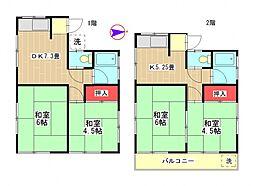 [一戸建] 東京都町田市高ヶ坂3丁目 の賃貸【/】の間取り