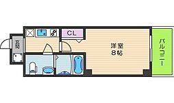 Co.labo天王寺 6階1Kの間取り