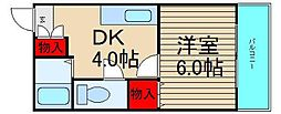 武智産業ビル[303号室]の間取り