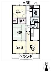 エスポワール若鶴[2階]の間取り
