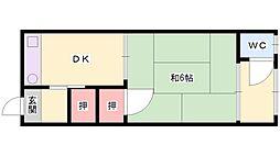 松栄荘[16号室]の間取り