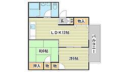 メゾンソレイユI番館[105号室]の間取り