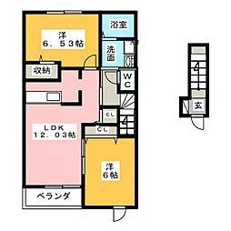 ネオフリー[2階]の間取り