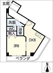 第五名昭ビル[2階]の間取り