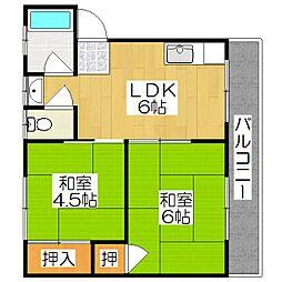 藤和荘[2階]の間取り