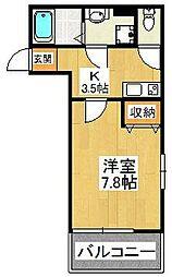 アーブル・グラン船橋宮本[301号室]の間取り