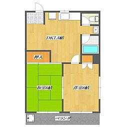 Matsuya Corpo[3階]の間取り