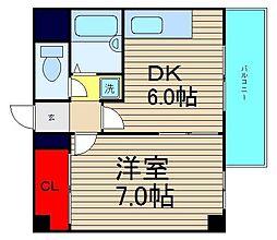 大阪府大阪市西区九条2丁目の賃貸マンションの間取り