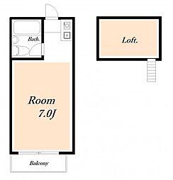 ローズアパートR33[0206号室]の間取り
