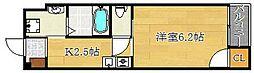 ローズミード総持寺[102号室]の間取り