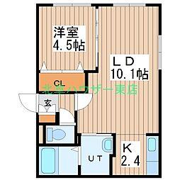 (仮)北14東1 A棟[3階]の間取り
