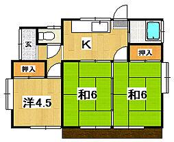 [一戸建] 茨城県常陸太田市木崎二町 の賃貸【/】の間取り