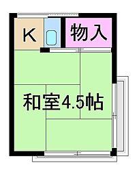 文月荘[1階]の間取り